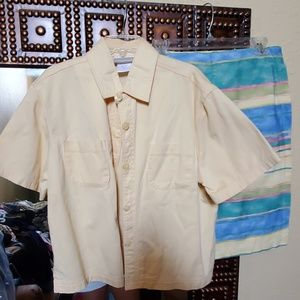 Coldwater Creek yellow short sleeve shirt
